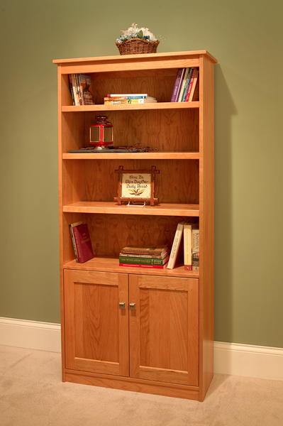 Candler Bookshelf Bottom Doors