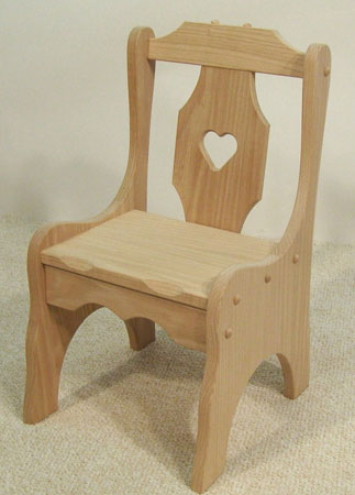 Heart child 39 s chair for Child s first chair