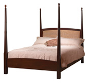 Classic-Shaker-Pencil-Post-Bed-with-Optional-Padded-Headboard