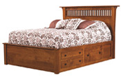 Empire-Mission-Bed-with-003-Drawer-Unit