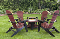 Adirondack-Folding-Chairs-with-Fire-Pit